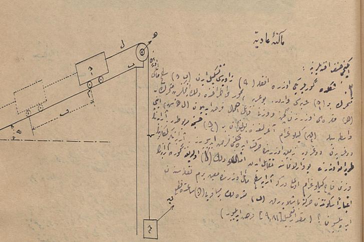 'Makine_ dersine ait bir soru, Şaka Dergisi, Sayı No?, 27 Ağustos 1920.