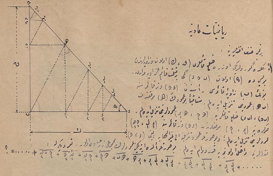 'Matematiğe Giriş_ (Riyaziyyat-ı Adiye) dersine ait bir soru, Şaka Dergisi, 27 Ağustos 1920.