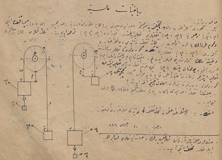 'Yüksek Matematik_ (Riyazıyyat-ı Aliye) dersine ait bir soru, Şaka Dergisi, 27 Ağustos 1920.